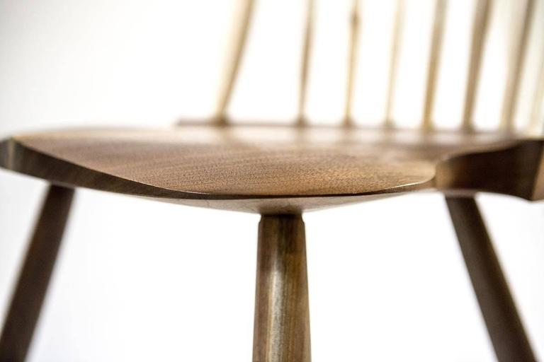 Shimna Berkshire Side Chair in Walnut with Maple Details 9