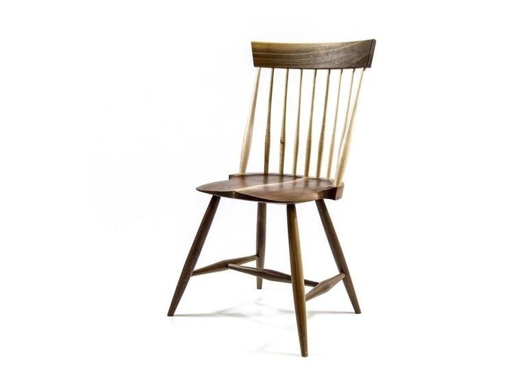 Shimna Berkshire Side Chair in Walnut with Maple Details For Sale 2