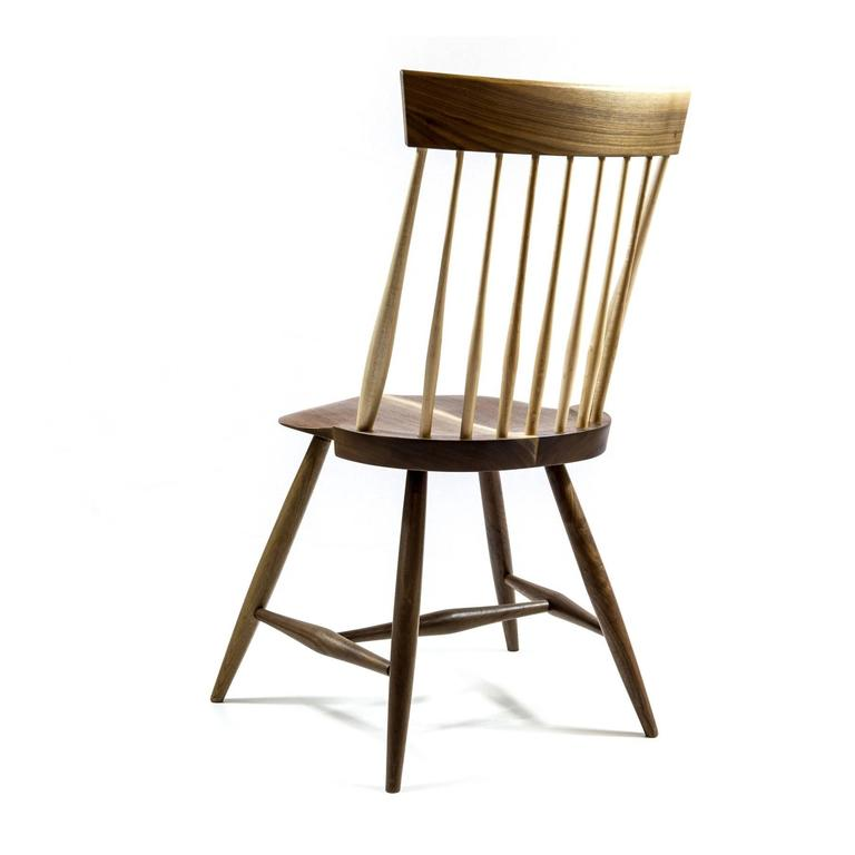 Shimna Berkshire Side Chair in Walnut with Maple Details In New Condition For Sale In Brooklyn, NY