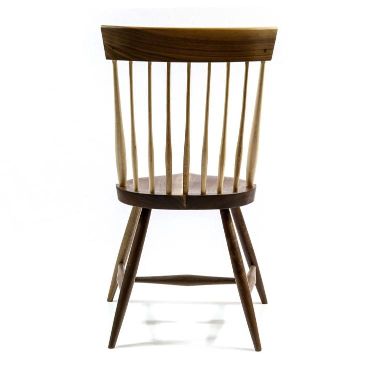 Contemporary Shimna Berkshire Side Chair in Walnut with Maple Details For Sale
