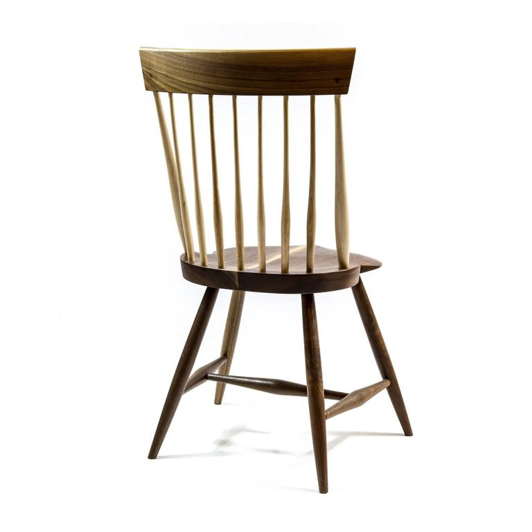 Shimna Berkshire Side Chair in Walnut with Maple Details 7