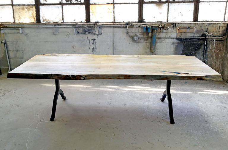 Sentient signature ambrosia maple live edge slab table for Finishing live edge wood