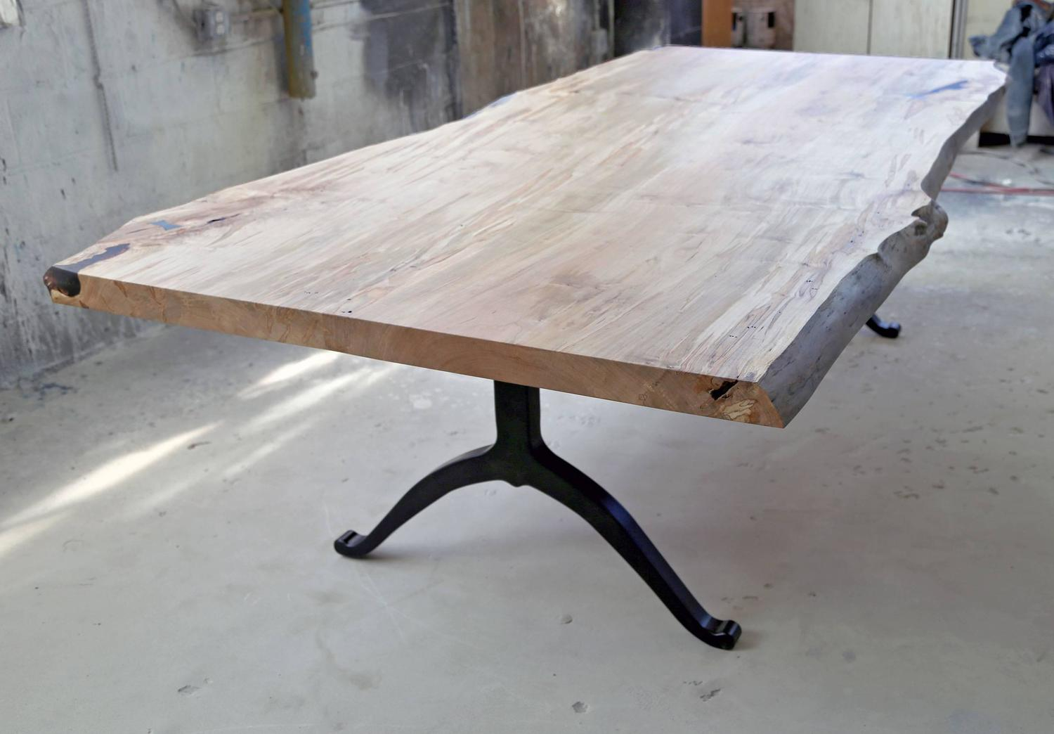 Sentient Signature Ambrosia Maple Live Edge Slab Table  : MapleTable11z from www.1stdibs.com size 1500 x 1044 jpeg 99kB