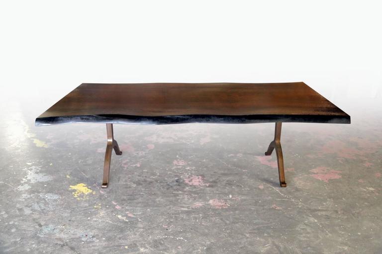 Sentient Signature Live Edge Black Walnut Slab Table