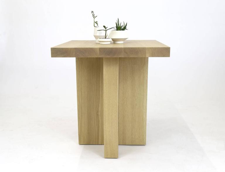 Shimna White Oak Square Side Table For Sale At 1stdibs