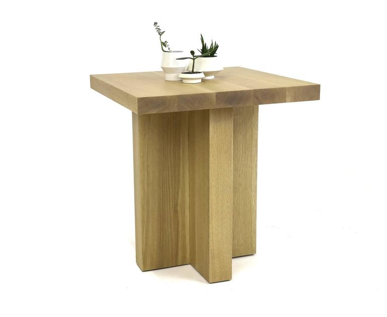 Shimna White Oak Square Side Table For Sale At 1stdibs