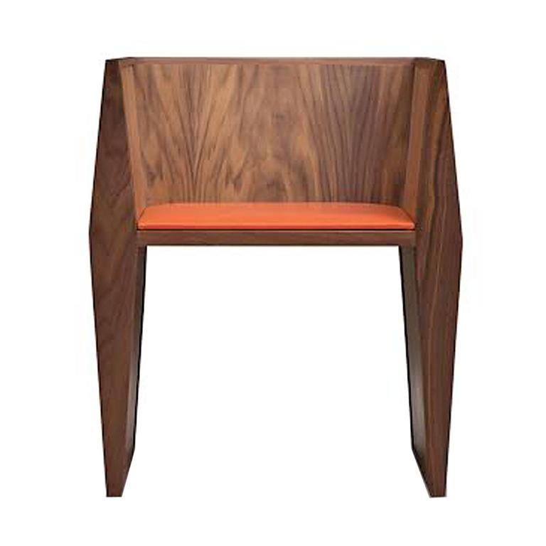 Sapience Chair in Walnut with Upholstered Seat For Sale