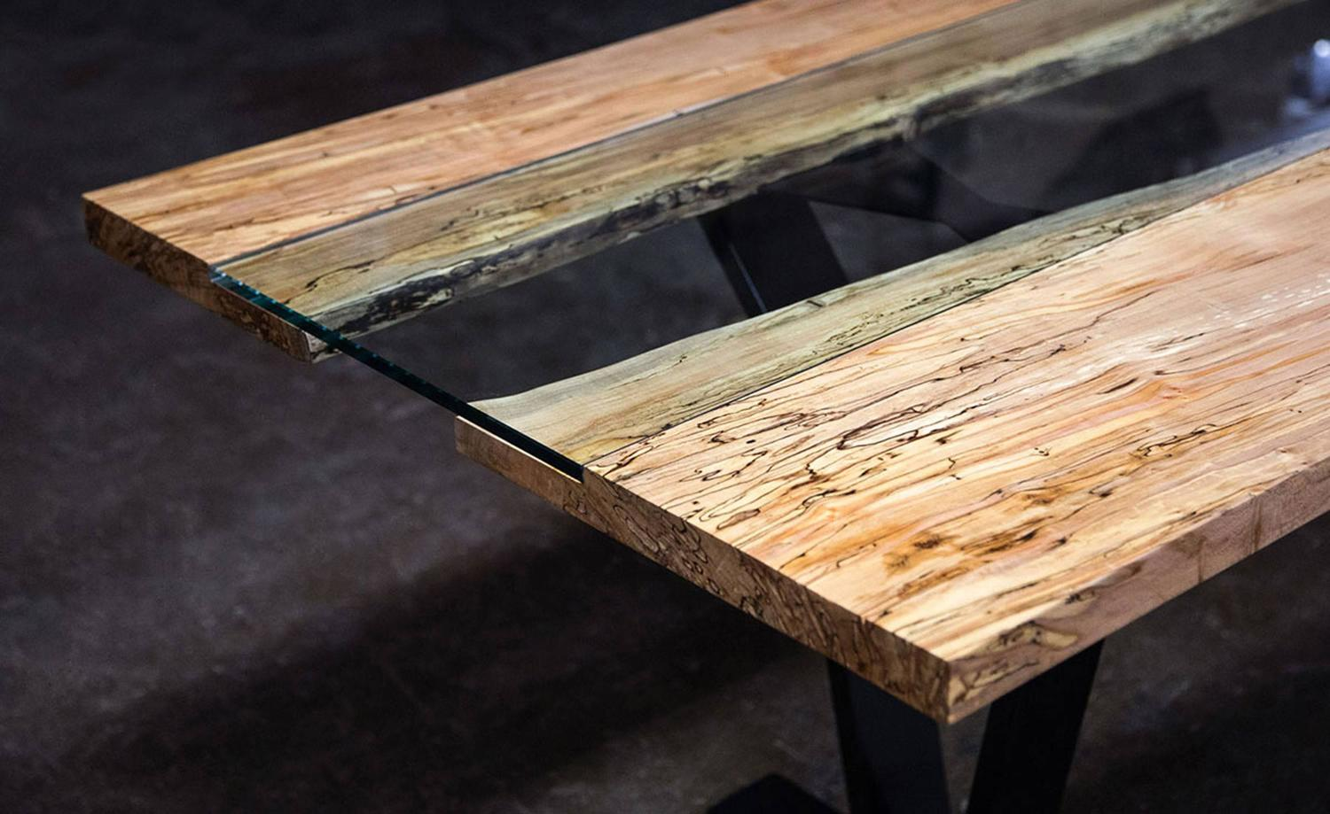 Sentient Colorado Table 84 Quot Live Edge Ambrosia Maple Slab