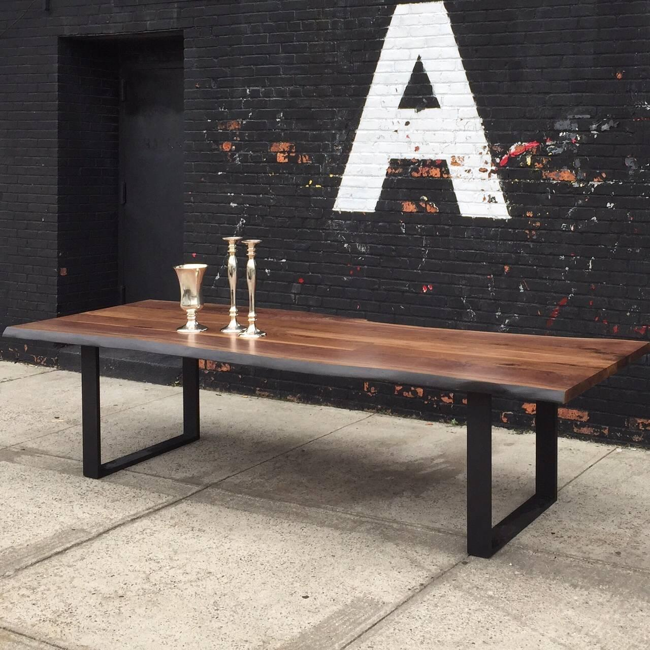 Sentient Signature Live Edge American Black Walnut Slab Table For Sale At 1stdibs