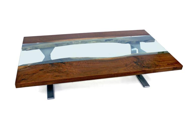 Sentient Colorado Coffee Table With Live Edge American Black Walnut Slab For Sale At 1stdibs