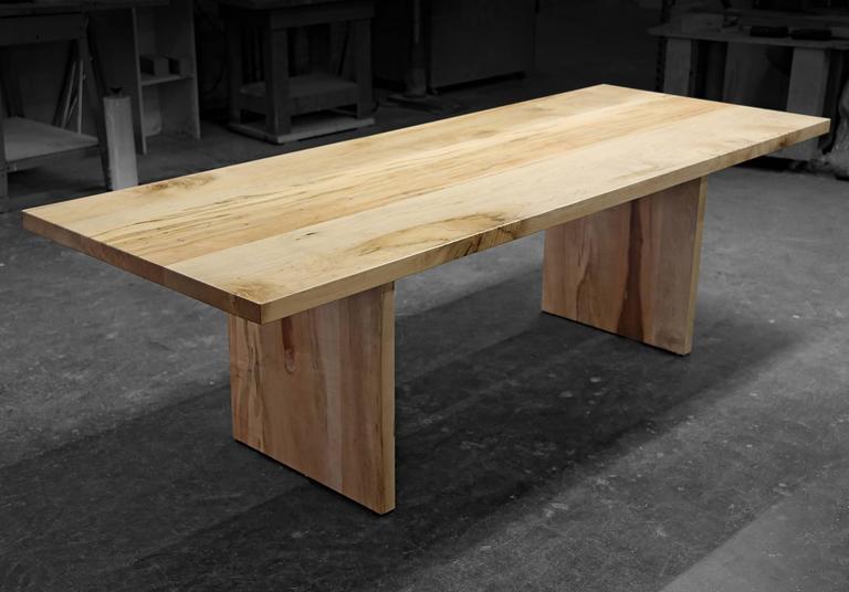 Maple hardwood farmhouse communal table for sale at 1stdibs - Restaurant communal tables ...