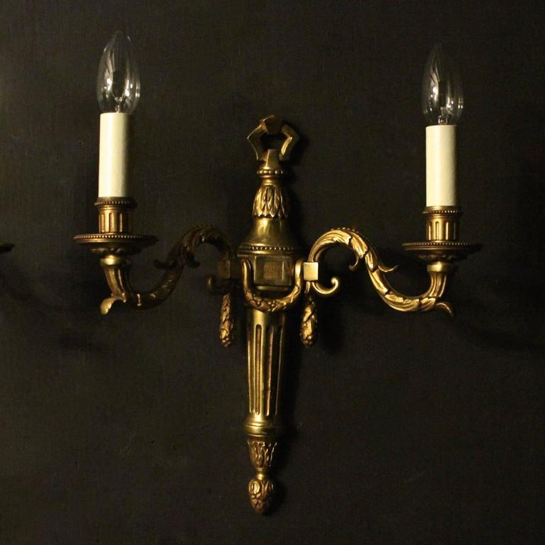 French Set of four Bronze Antique Wall Lights at 1stdibs