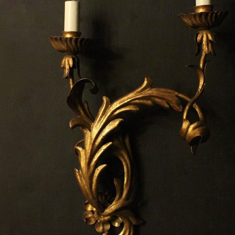 Carolina Twin Wall Lights : Italian Pair of Palladio Twin Arm Wall Lights For Sale at 1stdibs