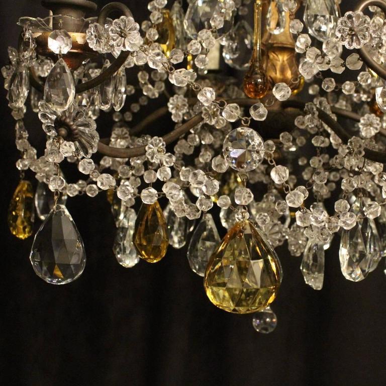 Florentine Six-Light Antique Chandelier For Sale at 1stdibs