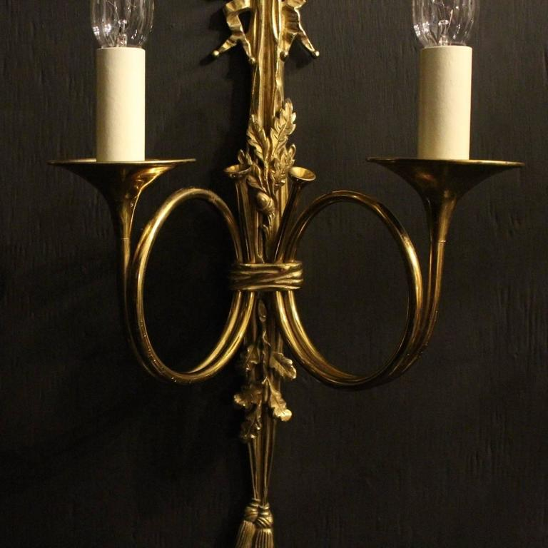 Carolina Twin Wall Lights : French Pair of Twin Arm Wall Lights at 1stdibs