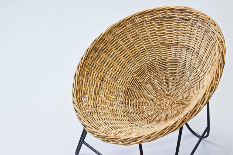 Danish 1950s Rattan Easy Chairs 7