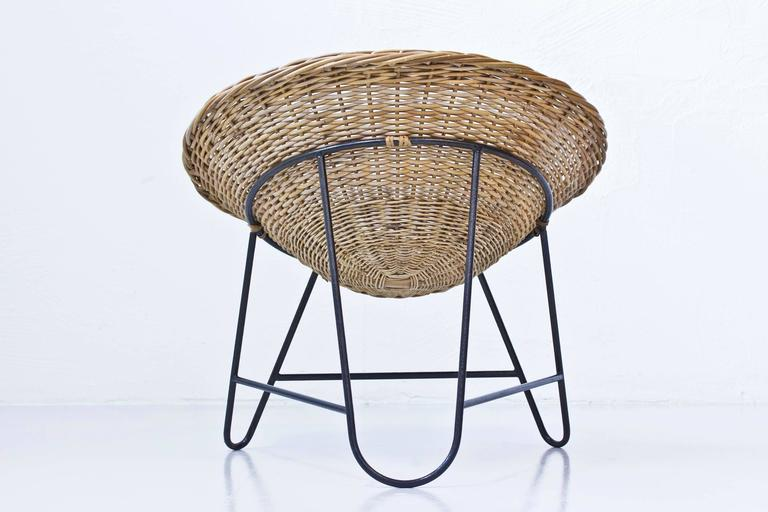 Danish 1950s Rattan Easy Chairs 10
