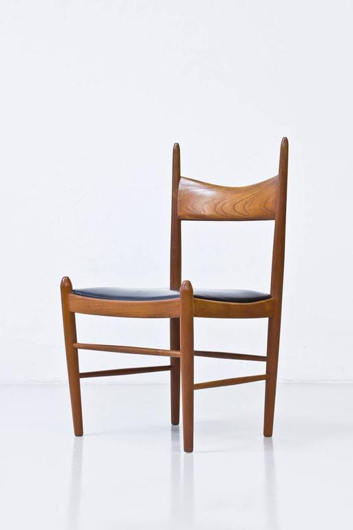 Mid-20th Century Set of Ten 1950s Teak Dining Chairs by Illum Wikkelsø For Sale