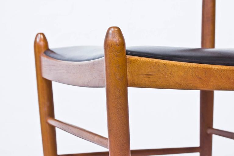 Set of Ten 1950s Teak Dining Chairs by Illum Wikkelsø For Sale 3