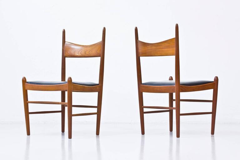 Danish Set of Ten 1950s Teak Dining Chairs by Illum Wikkelsø For Sale
