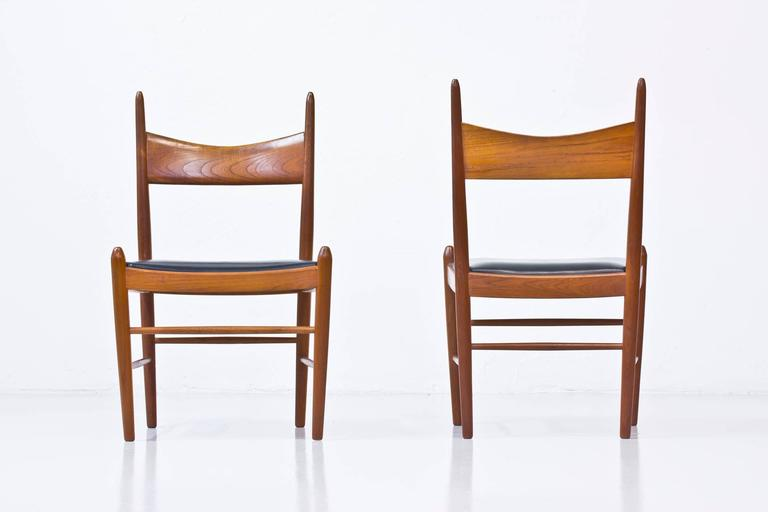 Set of Ten 1950s Teak Dining Chairs by Illum Wikkelsø In Excellent Condition For Sale In Stockholm, SE