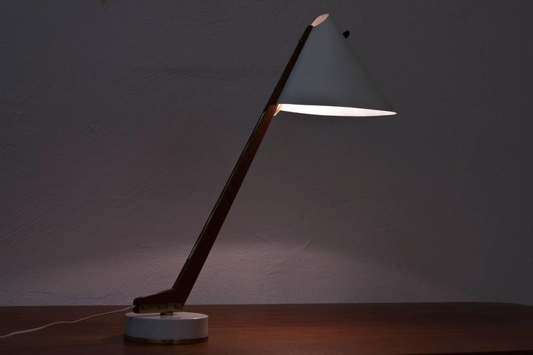 Metal 1950s Table Lamp B 54 by Hans Agne Jakobsson For Sale