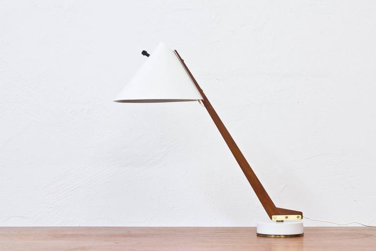 Scandinavian Modern 1950s Table Lamp B 54 by Hans Agne Jakobsson For Sale