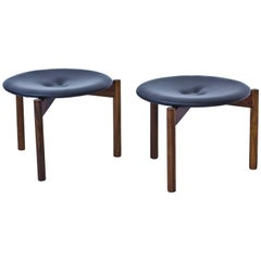 Rare 1960s Stools by Uno and Osten Kristiansson