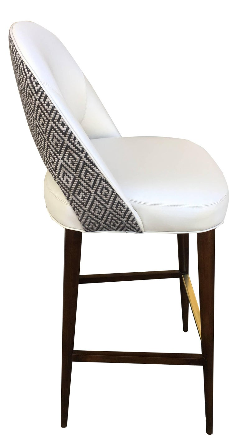Bar Or Counter Stool With Bucket Seat For Sale At 1stdibs