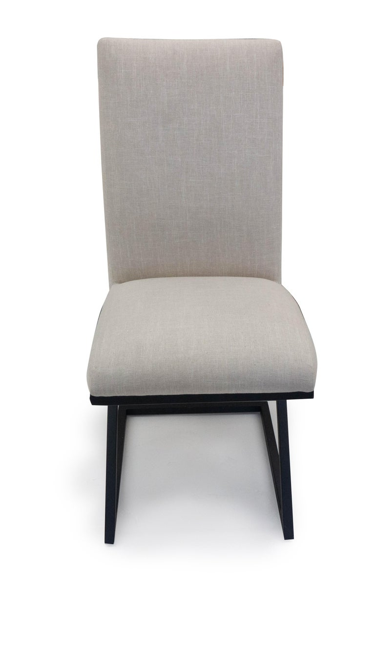 Modern Upholstered Dining Chair In Excellent Condition For Sale In Westport, CT