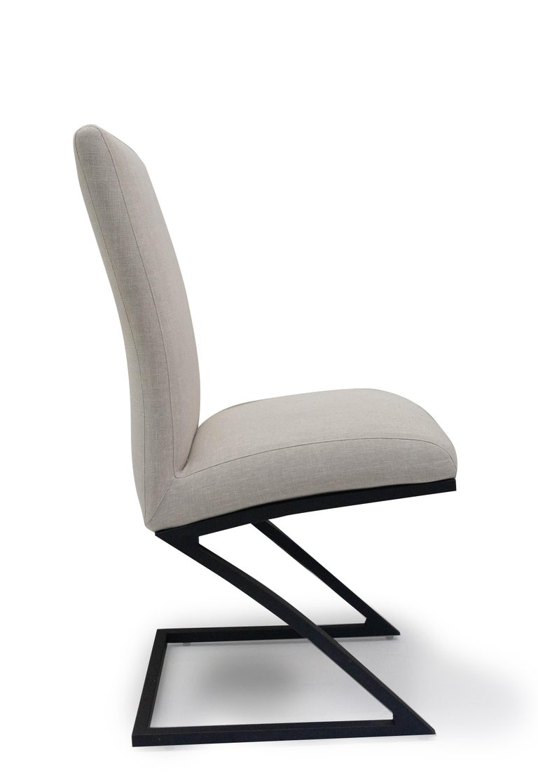 Contemporary Modern Upholstered Dining Chair For Sale