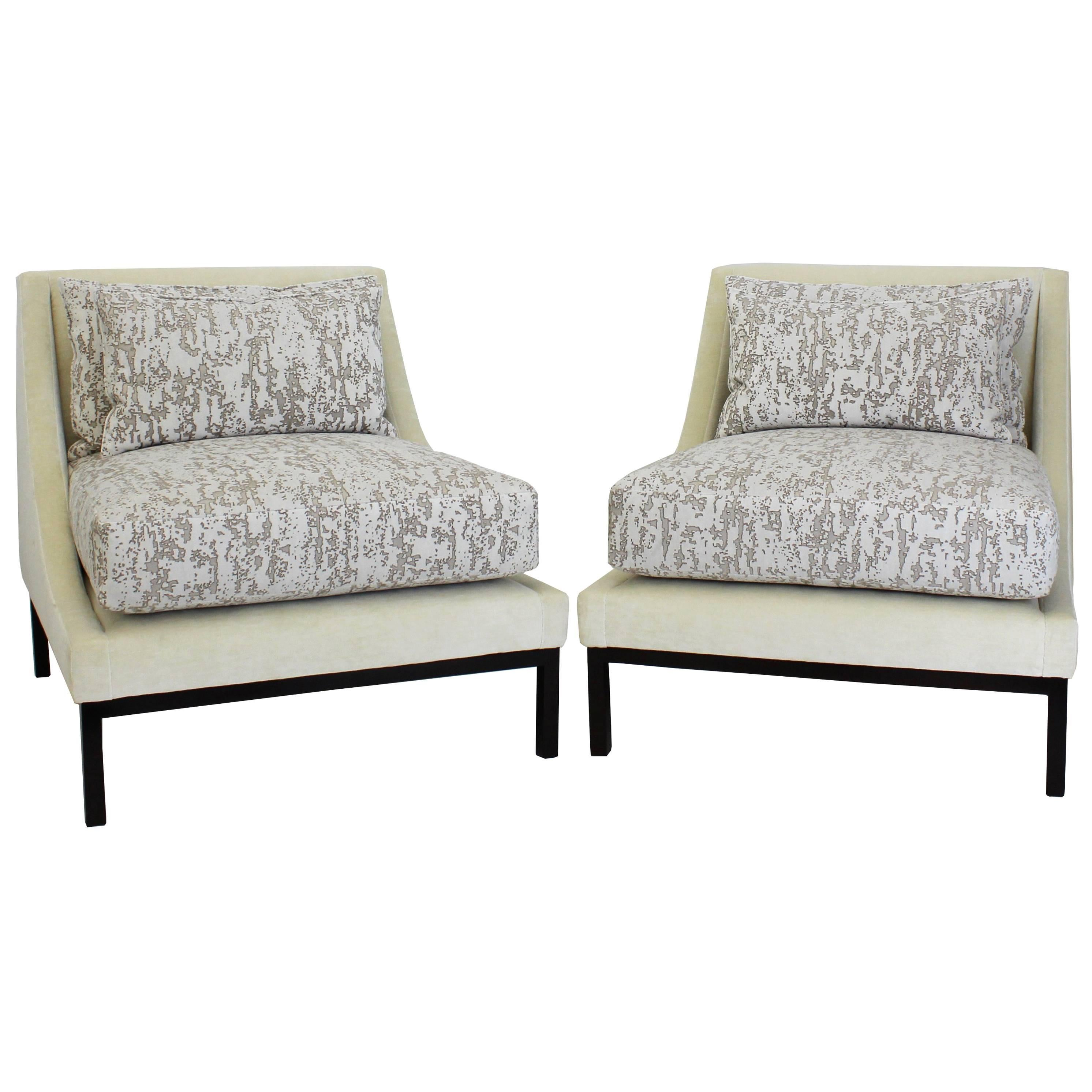 Art Deco Style Club Chair with Loose Cushions