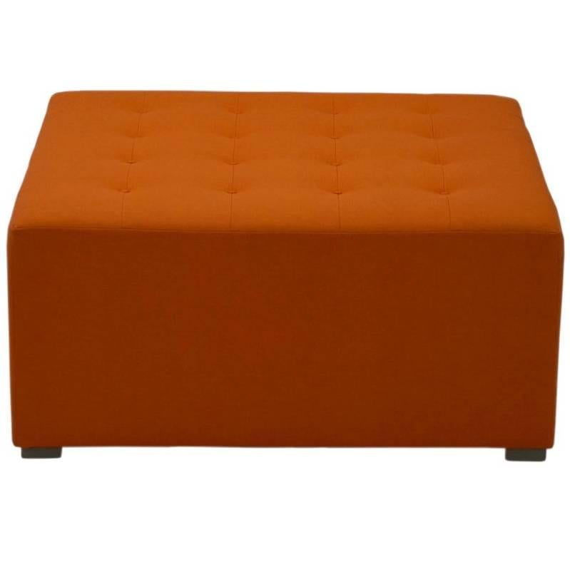 Large Square Button Tufted Ottoman, Custom
