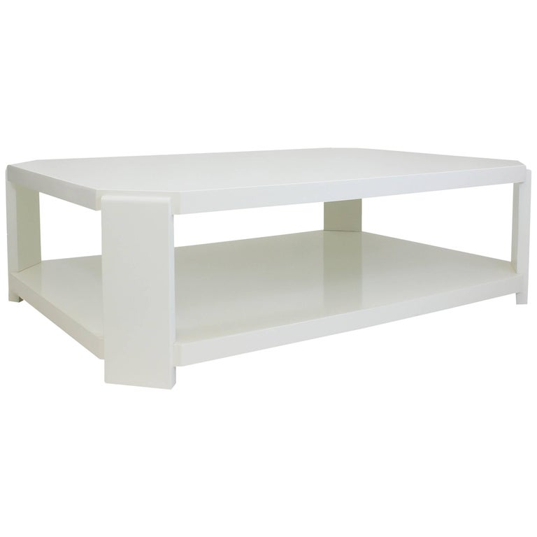 Modern Octagonal Lacquered Coffee Table