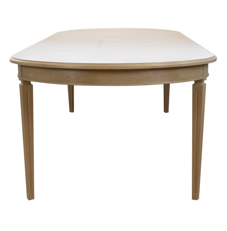 French Provincial Oval French-Style Dining Table For Sale