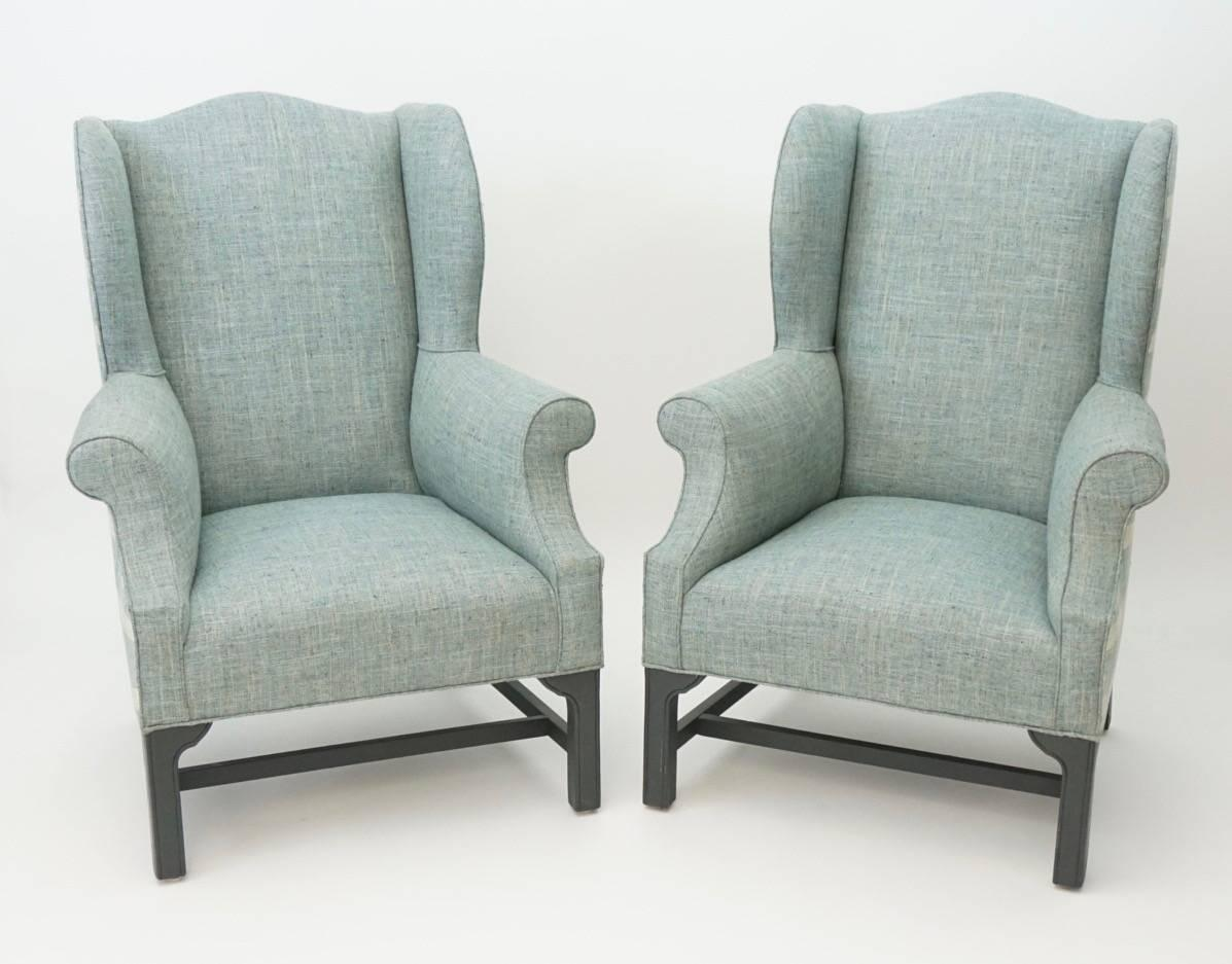 Vintage Wing Chair Newly Upholstered For Sale At 1stdibs