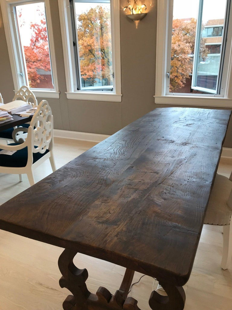 American Spanish Style Refectory Table For Sale
