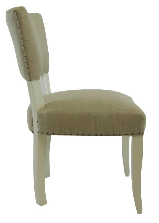 American Transitional Upholstered Dining Chair For Sale