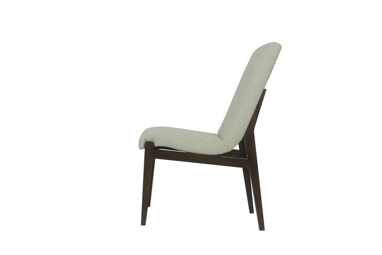 Modern Tall Casual Upholstered Dining Chair For Sale