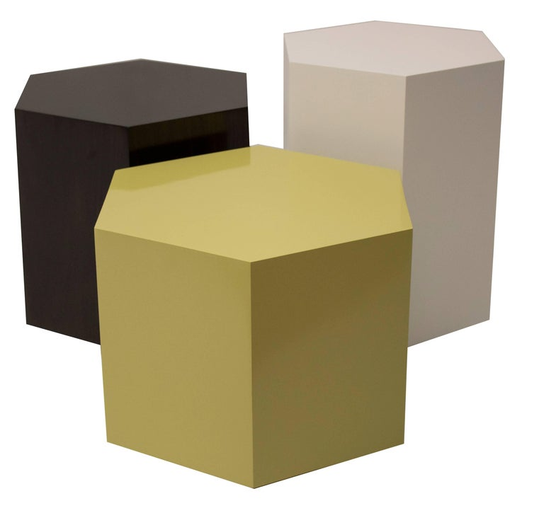 American Set of Three Hexagonal Cluster Side Tables For Sale