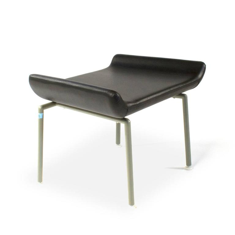 Cappellini Capo Footrest By Doshi Levien Black Leather