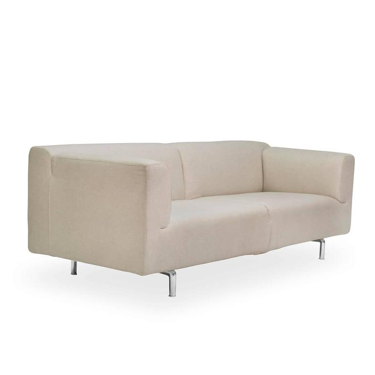 cassina met two seat sofa by piero lissoni italy couch for sale at 1stdibs. Black Bedroom Furniture Sets. Home Design Ideas