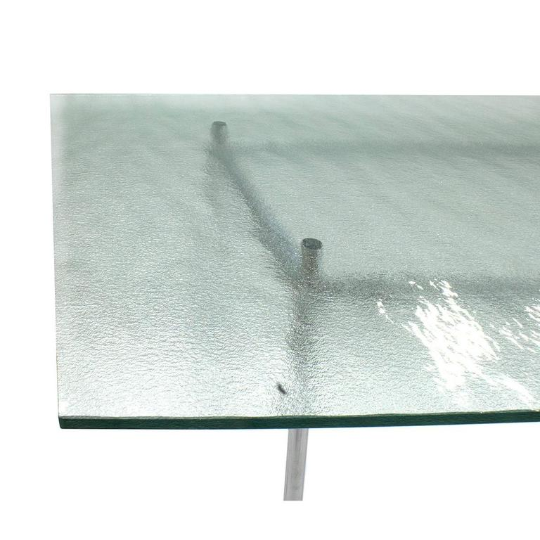 Cassina Glass Top LC12 Dining Table by Le Corbusier, Modern, Italy ...