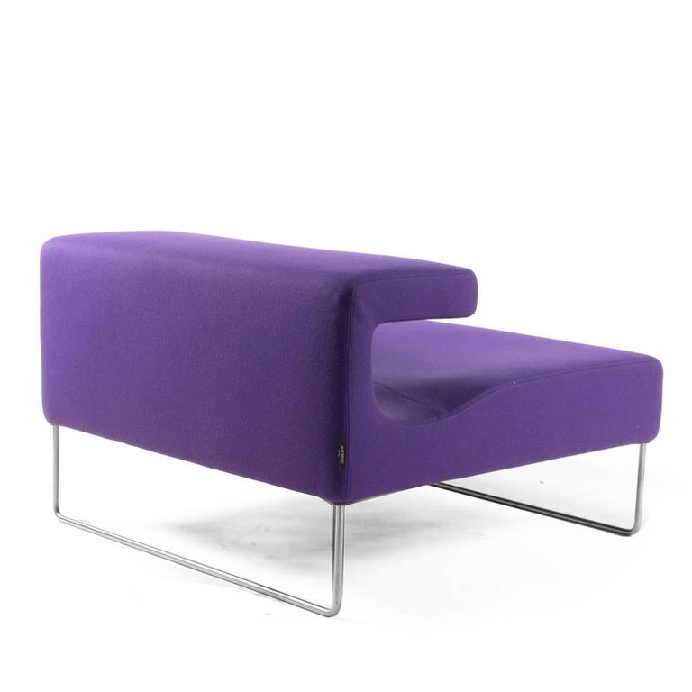 Purple moroso chaise longue lowseat chair by patricia for Antibodi chaise longue by patricia urquiola