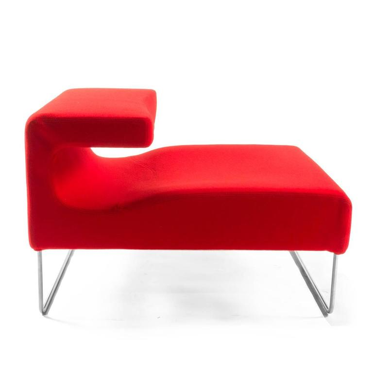 moroso red lowseat chair by patricia urquiola italy for. Black Bedroom Furniture Sets. Home Design Ideas