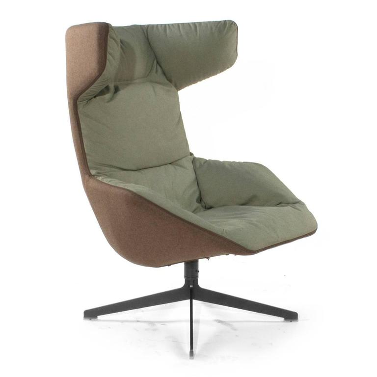Moroso Take A Line For A Walk Swivel Wingback Chair By