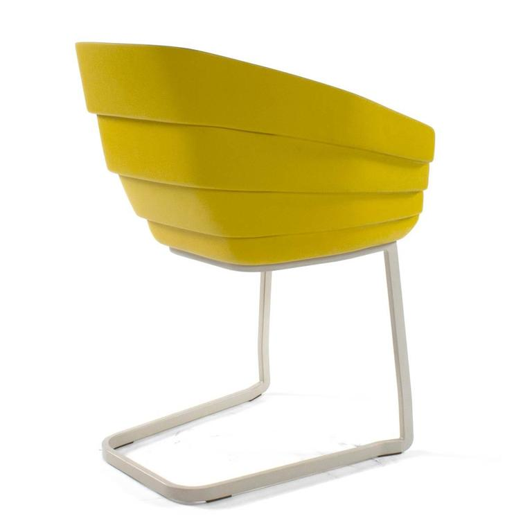 moroso yellow rift cantilever armchair by patricia urquiola  italy for sale at 1stdibs