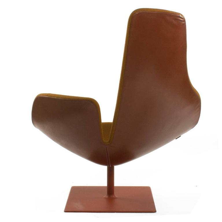 moroso fjord relax swivel armchair by patricia urquiola  italy for sale at 1stdibs