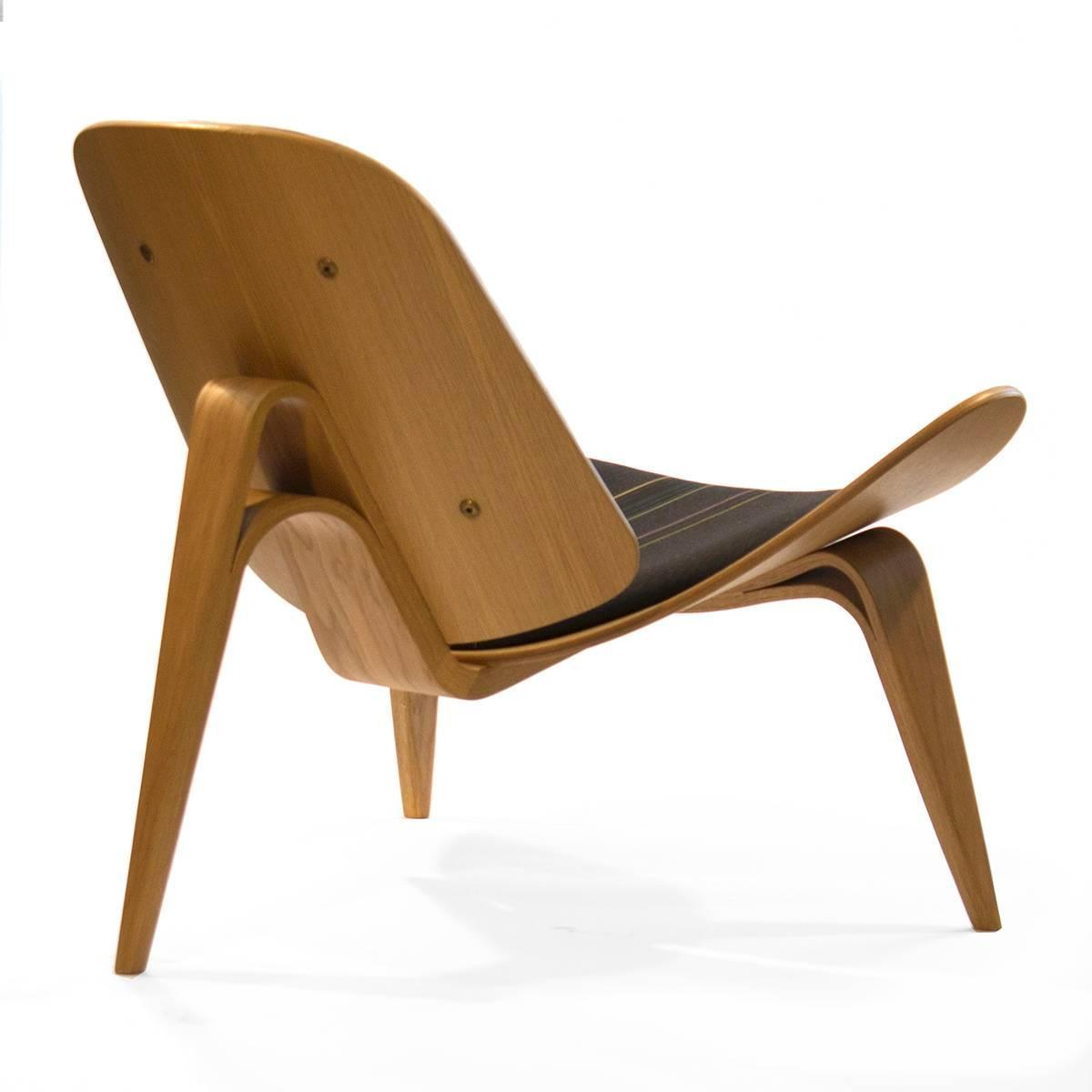 Carl Hansen And Co CH007 Shell Lounge Chair By Hans Wegner Denmark For Sale