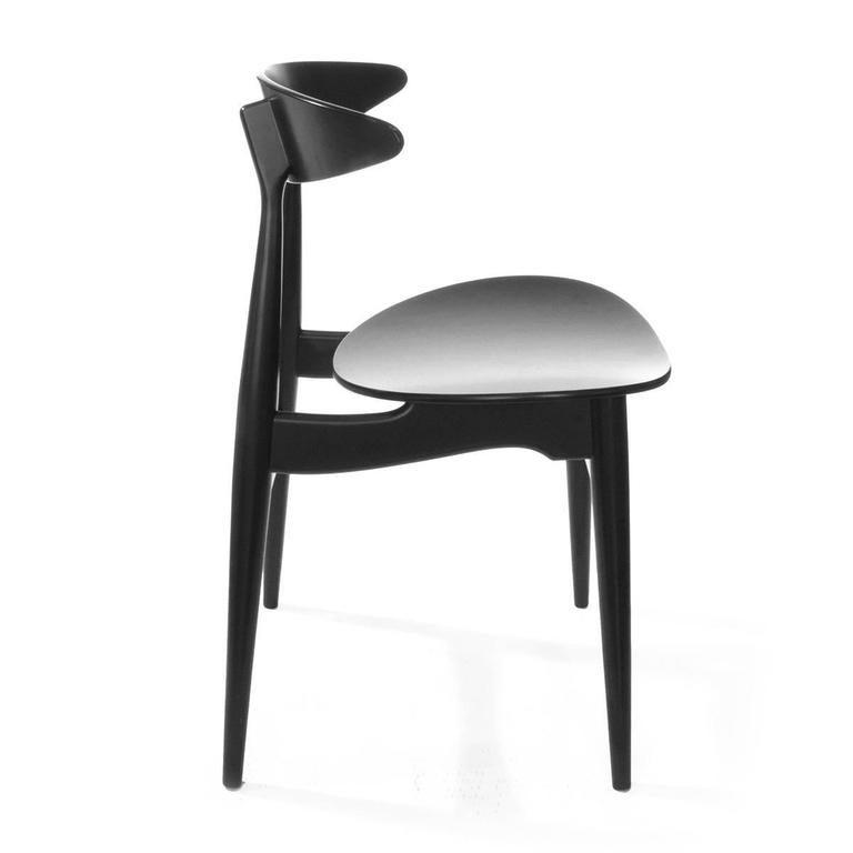 Carl Hansen Chairs black carl hansen and son ch33t modern dining chairhans wegner